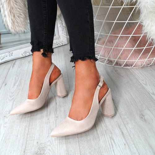 Lico Nude Sling Back Pumps