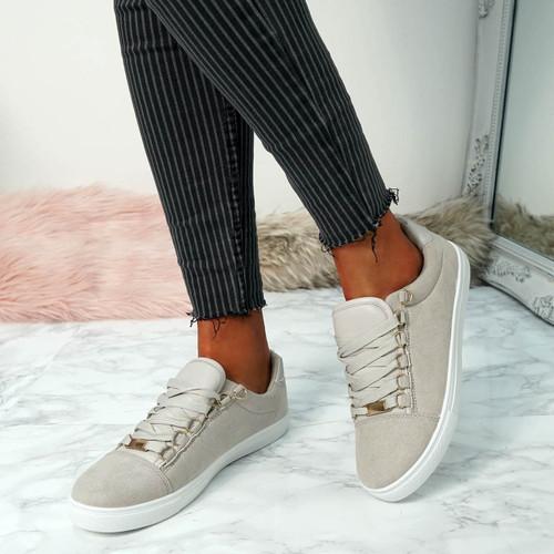 Nuyma Grey Croc Skate Shoes