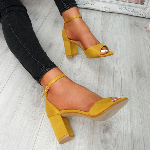 Opia Yellow Ankle Strap Sandals