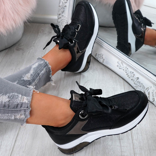 Nija Black Ribbon Trainers