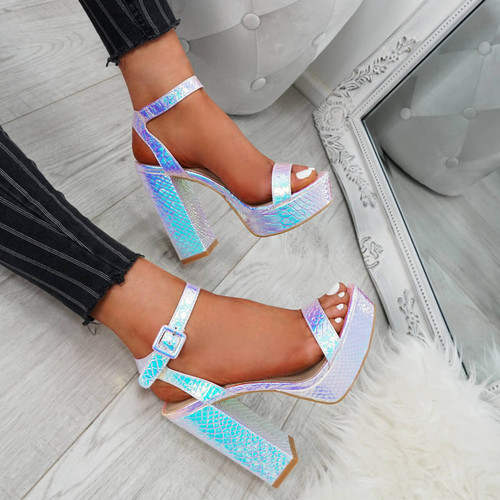 Kima Silver Platform Sandals