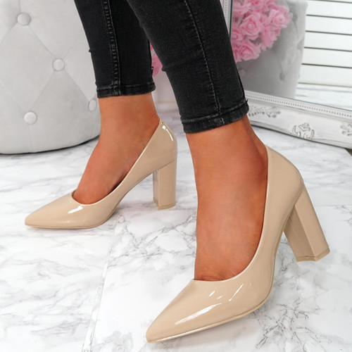 Genda Nude Court Pumps