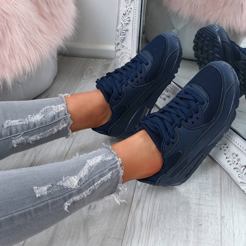 Kimsa Navy Lace Up Trainers