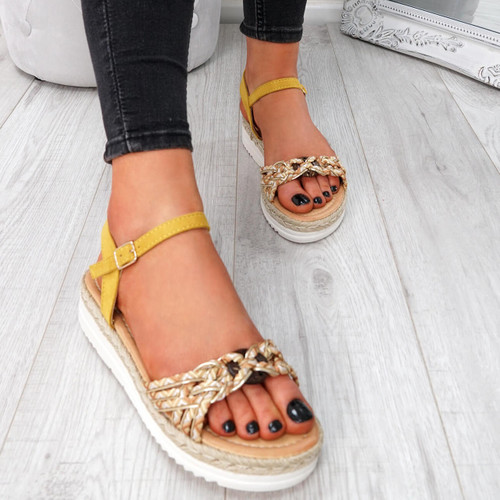 f6647175b421 Womens Ladies Ankle Strap Flat Sandals Multicolor Summer Shoes Size