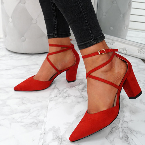 Konna Red Pointed Pumps