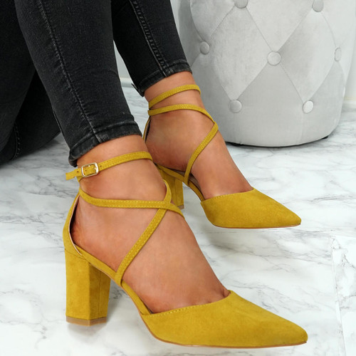 Konna Yellow Pointed Pumps