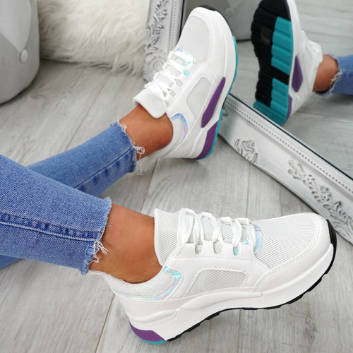 Vilim White Fashion Trainers