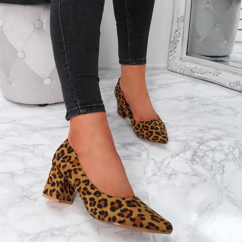 Offie Leopard Court Pumps