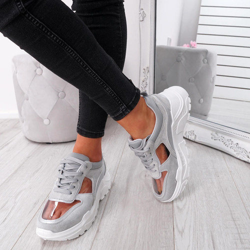 Boppa Grey Transparent Trainers