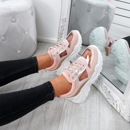 Boppa Pink Transparent Trainers