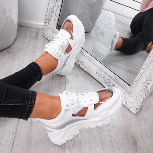 Boppa White Transparent Trainers