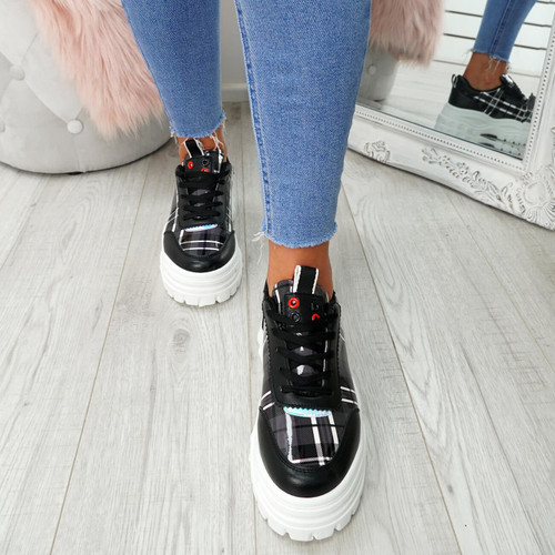 Eyl Black Chunky Trainers