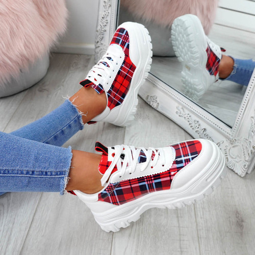 Eyl Red Chunky Trainers