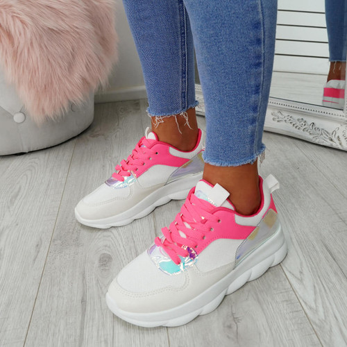 Ziffy Fuchsia Lace Up Trainers