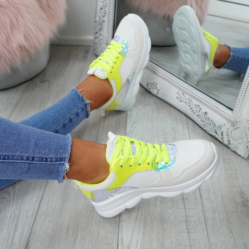 Ziffy Green Lace Up Trainers