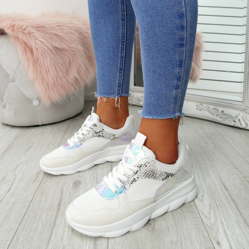 Ziffy Snake Lace Up Trainers