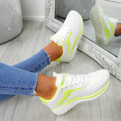Bixey Green Lace Up Trainers