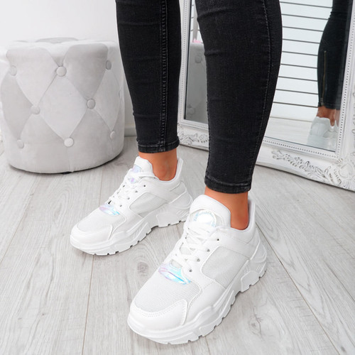 Foya White Running Sneakers