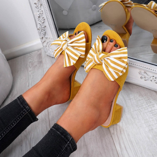 Fika Yellow Slip On Sandals