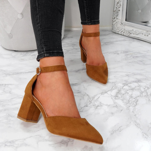 Xina Camel Pointed Pumps