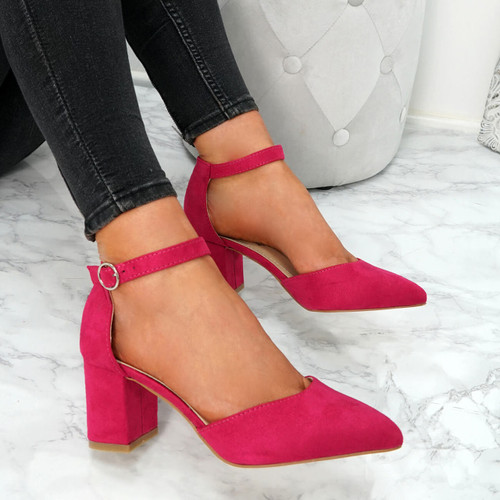 Xina Fuchsia Pointed Pumps