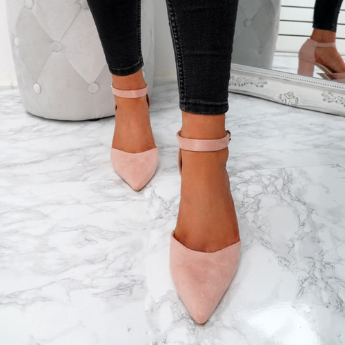 Xina Pink Pointed Pumps