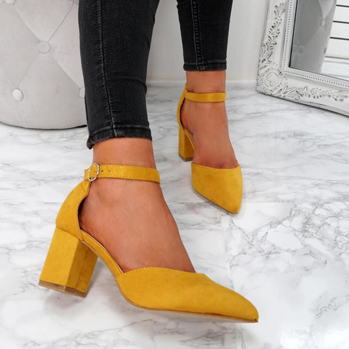 Xina Yellow Pointed Pumps