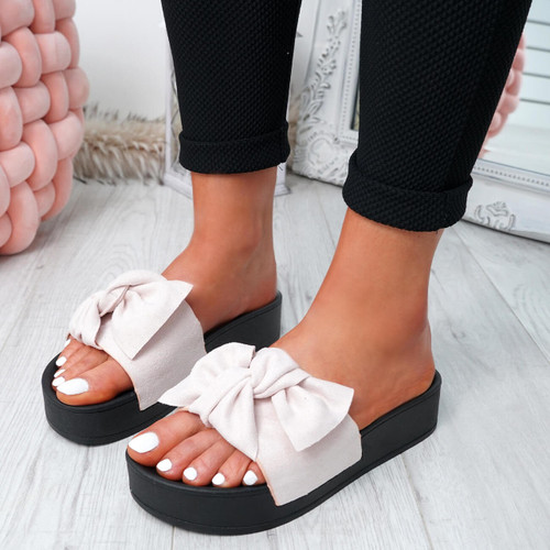 Gyo Nude Bow Sliders