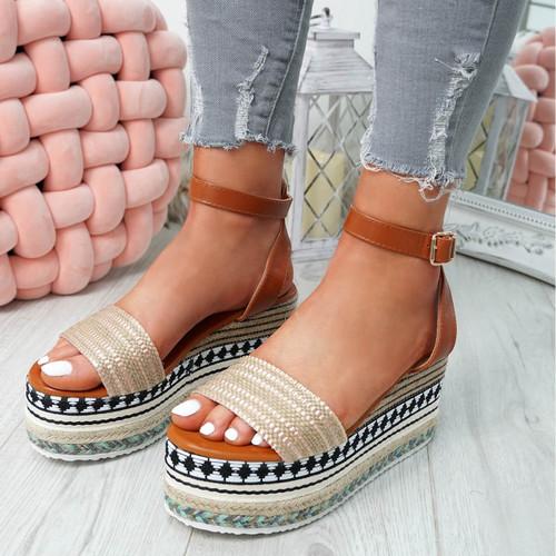 Gima Gold Platform Sandals