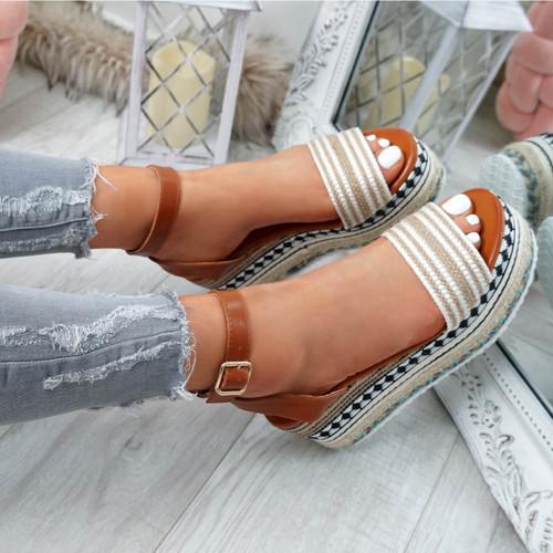 Gima White Platform Sandals