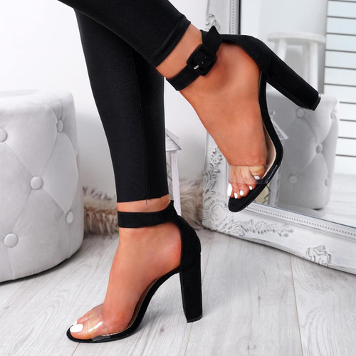 Loma Black Block Heel Sandals