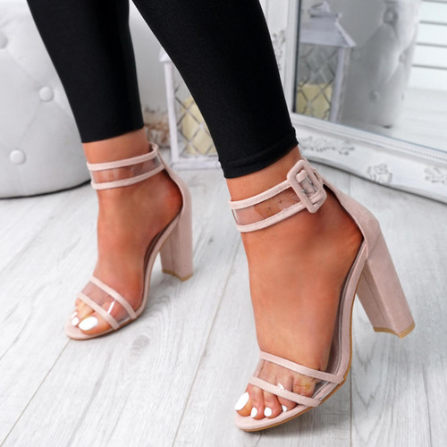 Pery Apricot Clear Sandals