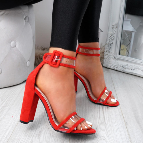 Pery Red Clear Sandals