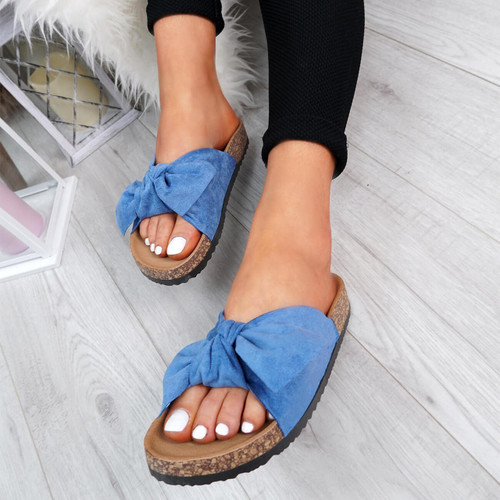 Pato Blue Bow Sliders