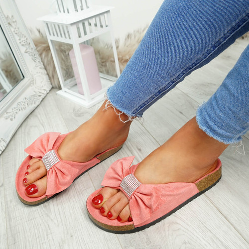 Renna Coral Bow Studded Sandals