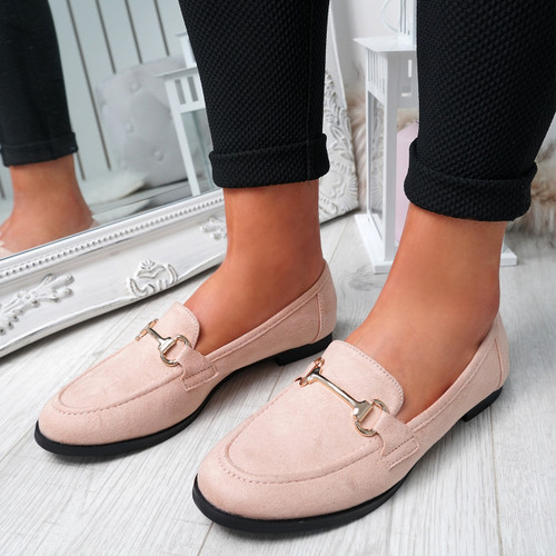Itka Pink Slip On Loafers