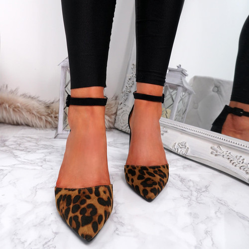 Amara Leopard Block Heel Pumps