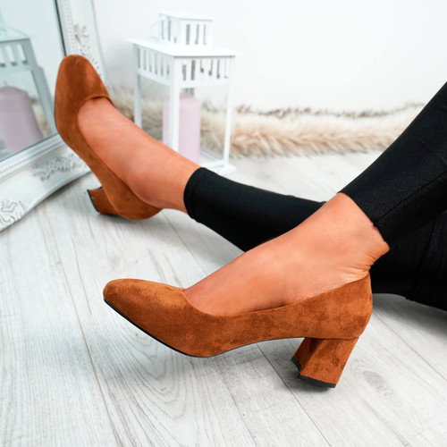 Petra Camel Slip On Court Pumps