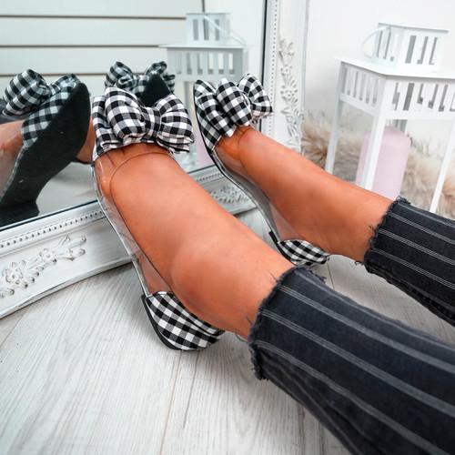 Heba Black Bow Ballerinas