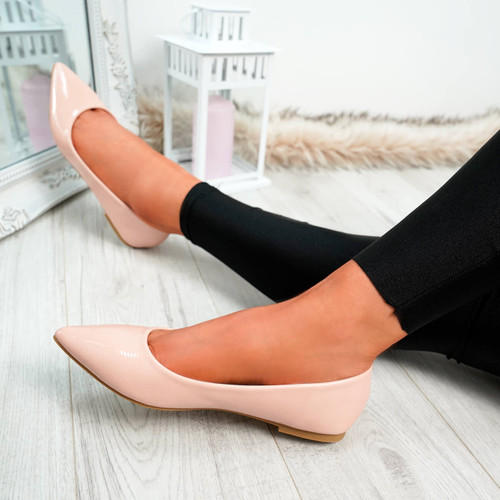 Ify Pink Pointed Ballerinas