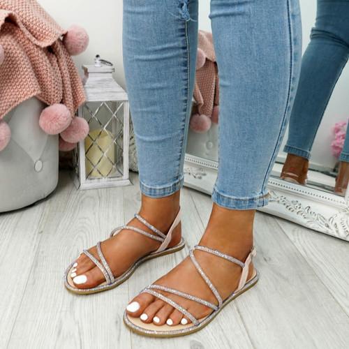 Stuggo Pink Studded Sandals