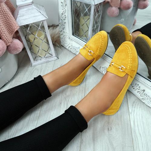 Enam Yellow Buckle Ballerinas