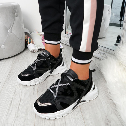 Bure Black Chunky Trainers
