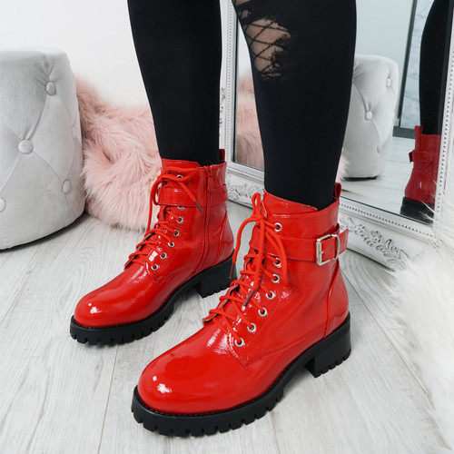 Nozia Red Ankle Boots