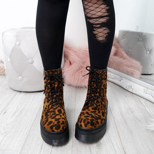 Benka Leopard Ankle Boots