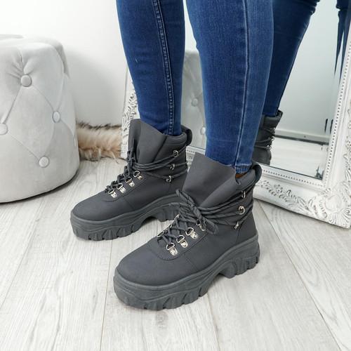 Cibba Grey Nubuck Ankle Boots