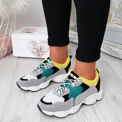 Arianna Yellow Chunky Trainers