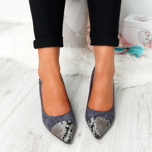 Fippo Grey Sparkle Pumps