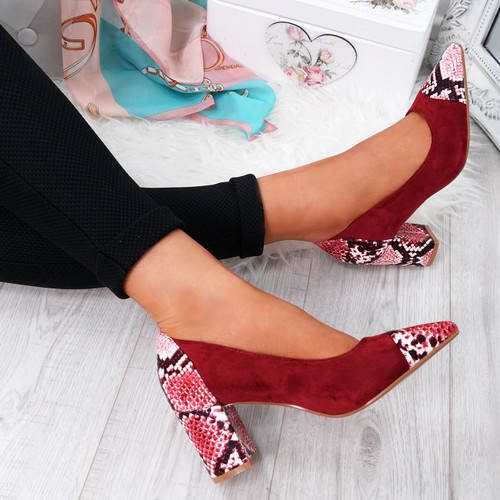 Fippo Red Sparkle Pumps