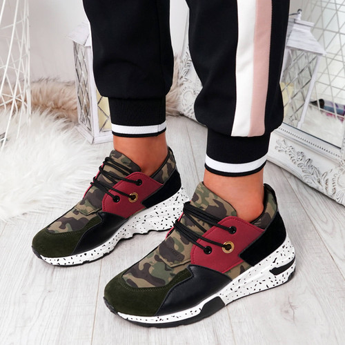 Infa Green Camouflage Trainers